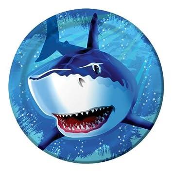 8 platos * * Tiburones para fiestas y cumpleaños/cumpleaños ...