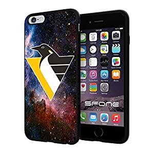 Pittsburgh Penguins 3 Galaxy NHL Logo WADE5004 iPhone 6+ 5.5 inch Case Protection Black Rubber Cover Protector
