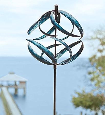 metallic blue wind spinner