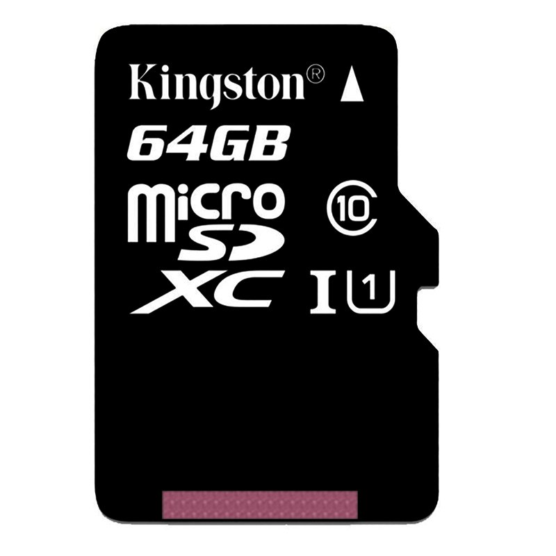 Kingston Digital 64GB microSDXC Class 10 UHS-I 45MB/s Read Card with SD Adapter - SDC10G2/64GB