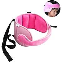 PUBAMALL Seguridad Soporte cinta de la cabeza del bebé, alivio del cuello del asiento de seguridad (rosa)