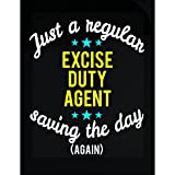 Excise Duty Agent Saving The Day - Sticker