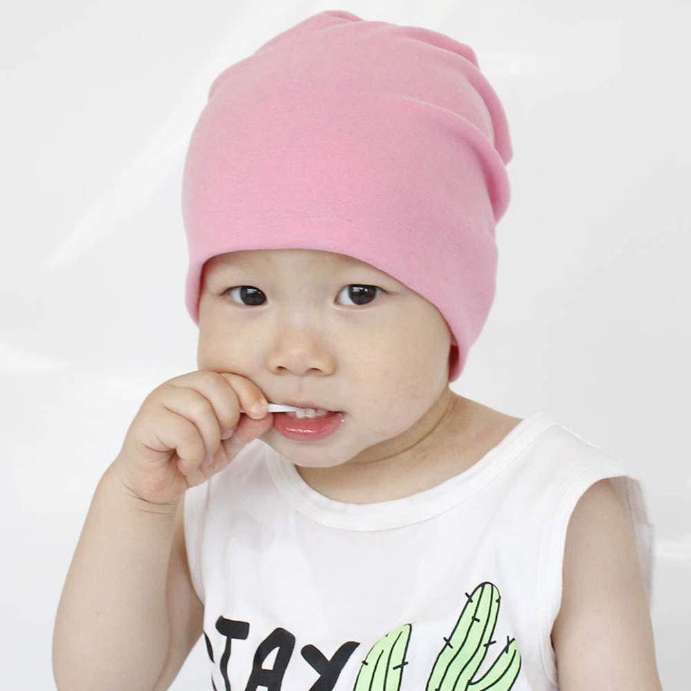 Colorful Unisex Baby M/ütze Hat Beanie Kinder H/üte Jersy Slouch Jungen M/ädchen Kleinkinder Long M/ütze Unifarbe Baumwolle Trend