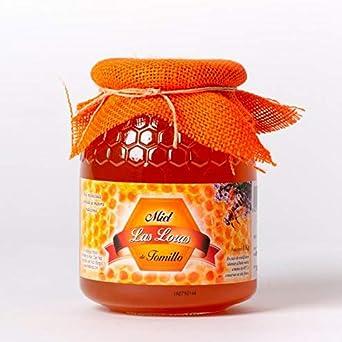 Miel de tomillo natural - 6 tarros de cristal de 1 kg: Amazon.es: Alimentación y bebidas