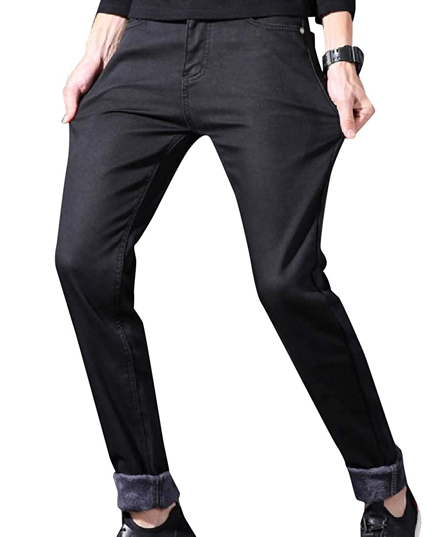 Comaba Mens Oversized Rugged Wear Thickening Cowboy Business Pant