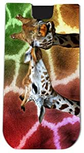 Rikki KnightTM Giraffes Kissing on Rainbow Background - Smart Phone Neoprene Protective Pouch for iPhone 4/4s/5/5s/5c, Motorola Moto X, Galaxy S3/S4/Note 3/Ace 2, LG Optimus Gpro/G2/L3/4X HD, Sony Xperia Z1S/U, HTC Droid/One/One X/Pro/mini, Blackberry G10