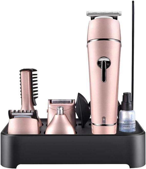 SONGSS Cortapelos sin cordón, maquinilla de Afeitar de la Barba, Kit de la Belleza del Cuerpo Recargable para el Condensador de Ajuste de la mandíbula y de la Nariz Masculinos (Color :