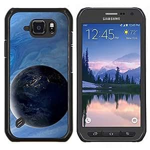 Caucho caso de Shell duro de la cubierta de accesorios de protección BY RAYDREAMMM - Samsung Galaxy S6Active Active G890A - Espacio Planet Galaxy Estrellas 4
