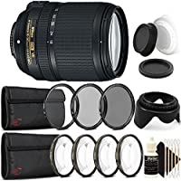 Nikon AF-S DX NIKKOR 18-140mm f/3.5-5.6G ED Vibration Reduction Zoom Lens with Auto Focus for Nikon DSLR Cameras with Accessory Bundle