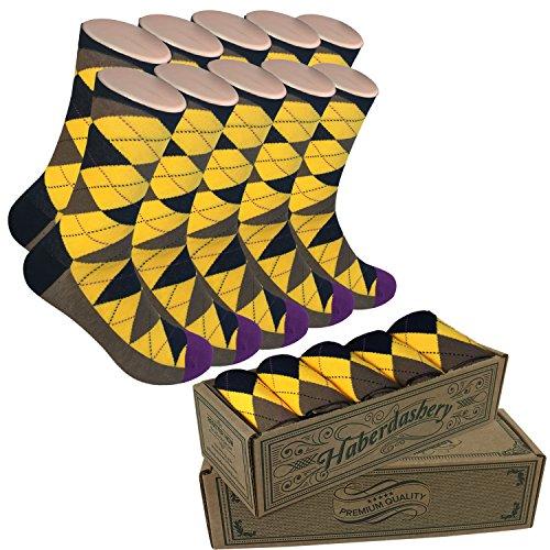 Mens Matching Dress Socks   Groomsmen Weddings Party Events   Gala 2 Collection  Black Yellow Brown Argyle Mens Socks