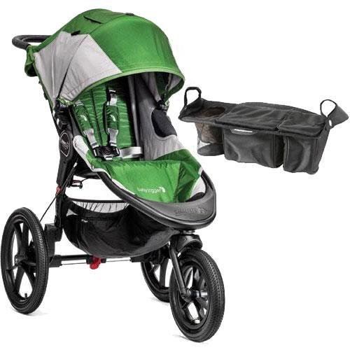 Baby Jogger - Summit X3 Single Jogging Stroller with Parent Console - Green Gray