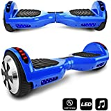 CHO Electric Self Balancing Dual Motors Scooter Hoverboard with Built-in Speaker and LED Lights - UL2272 Certified (-Blue)