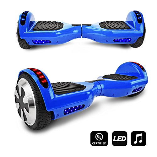 CHO Electric Self Balancing Dual Motors Scooter Hoverboard with Built-in Speaker and LED Lights -...