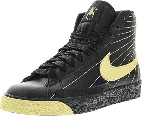 Nike Blazer High Fashion Sneaker Zwart / Metallic Gouden Ster