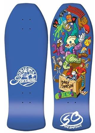 Santa Cruz Simpsons Bart Toybox Old School Skateboard Deck Amazon