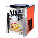 Commercial 3 Flavor Soft Ice Cream Machine Soft Ice Cream Cones Maker 220V/110V 18 - 22L/H (220V)