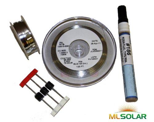 2 Diodes make Solar Cells Panel 1 Flux pen Kester 186 KIT 40/' Tabbing wire