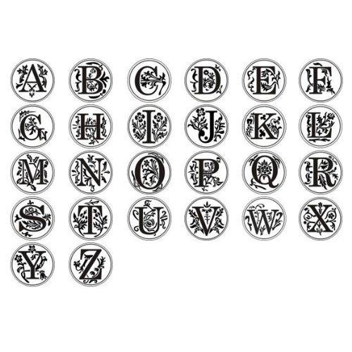 mttheaw Classic Retro sello de cera mango de madera de alfabeto con sello de cera 1pieza talla /única For You