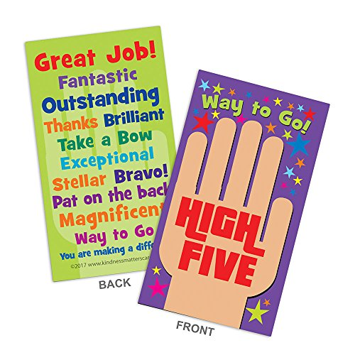 (High Five Appreciation Cards - Box of 100 Cards for Teachers, Employers, Friends, Co-Workers,)