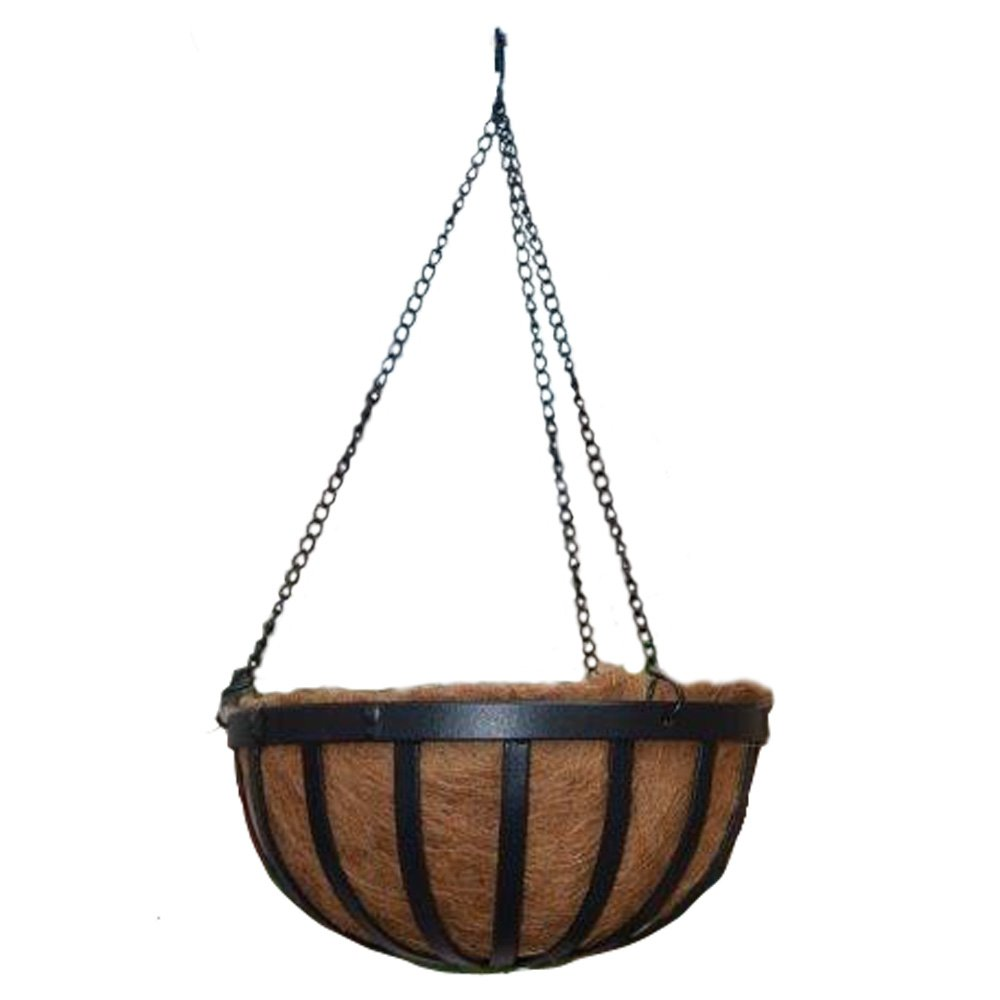 Arcadia Solstice Round Hanging Basket Planter, 16-Inch