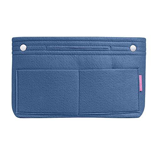 Best Felt Purse Organizer, Handbag Liner and Insert, Large, Blue