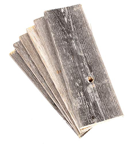 Barnwood Decor of OKC | Barnwood Craft Wood for DIY Projects [100% Authentic Reclaimed Weathered Wood] Rustic Weathered Reclaimed Wood Planks for DIY Crafts, Projects and Decor (6 Planks - 12 Inches)