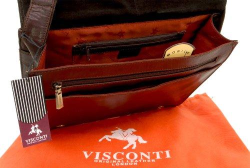en cuir longue ordinateur mi Brown A4 Ml23 portable Visconti ipod kindle Sacoche pour ipad wFqRpH