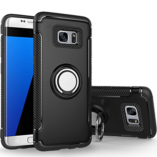 Shockproof Armor Case for Samsung Galaxy S7 Edge (Black) - 1