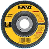 DEWALT DW8310 4-1/2-Inch x 7/8-Inch 120 Grit Zirconia Angle Grinder Flap Disc