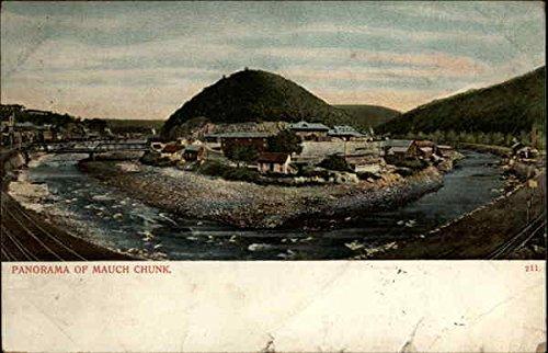 Mauch Chunk Pennsylvania - Panorama of Mauch Chunk Jim Thorpe, Pennsylvania Original Vintage Postcard