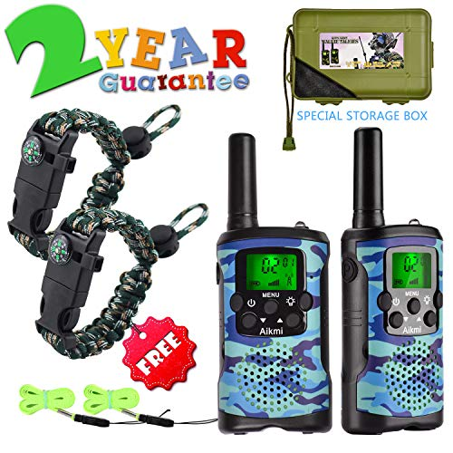 Walkie Talkies for Kids 22 Channel 2 Way Radio 3 Miles Long Range Handheld Walkie Talkies Durable Toy Best Birthday Gifts for 6 Year Old Boys and Girls fit Outdoor Adventure Game Camping (Blue) (Best Birthday Presents For 13 Year Old Boy)