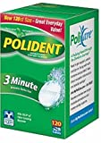 Polident 3 Minute, Antibacterial Denture Cleanser 120 ea (Pack of 12)