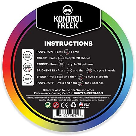 KontrolFreek Gaming Lights: LED Strip Lights, USB Powered with Controller, 3M Adhesive for TV, Console, PC, Wall (9 toes)