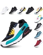 Sportschoenen Heren Sneakers Dames Hardloopschoenen Licht Fitness Wandelen Vetersluiting Luchtkussen Sneakers Gewoontjes Zwart Zwart-Wit Groen Roze Wit Geel EU36-EU47
