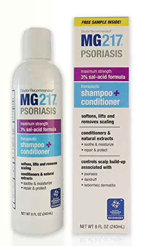 MG217 Psoriasis 3% Salicylic Acid Shampoo and Conditioner - a Psoriasis, Seborrheic Dermatitis and Dandruff Treatment, 8 Ounce