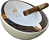 H & H Insignia Collection - White Oval - Cigar Ashtray
