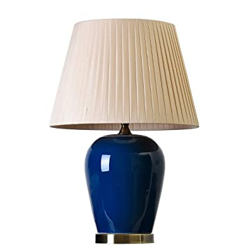 Amazon.com: Lámpara de mesa de cerámica para dormitorio ...