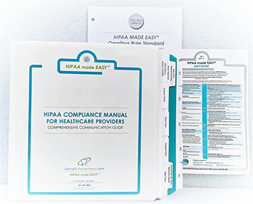 2017 HIPAA made EASYTM Complete Compliance Package includes Manual, Training Video, eForms to Omnibus Rule Hi Tech - Solution Compliance