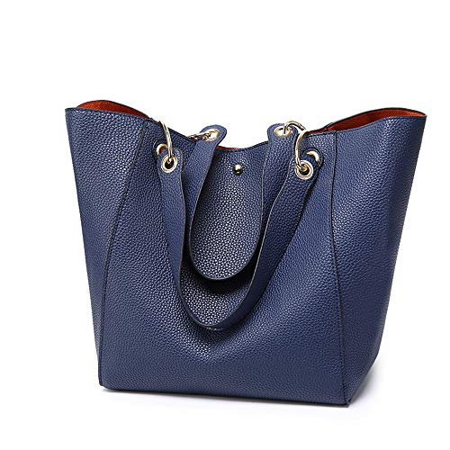Cawmixy Women Hobo Satchel Soft Shoulder Bags Synthetic Leather Tote Ladies Purses Designer Woman Bags (D Blue)