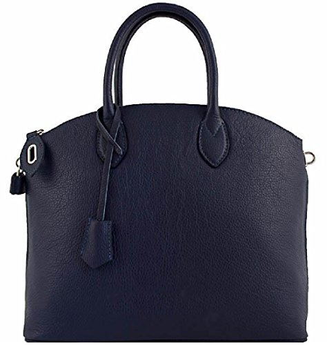 Borsa a mano in vera pelle made in taly BC102blu