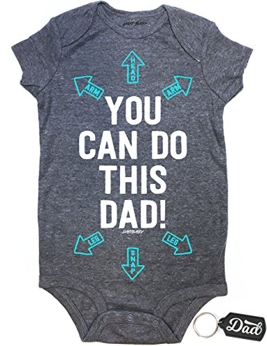 Daft Baby Dad You Can Do This Arrows Baby Shower Onesie & Dad Keychain Gift