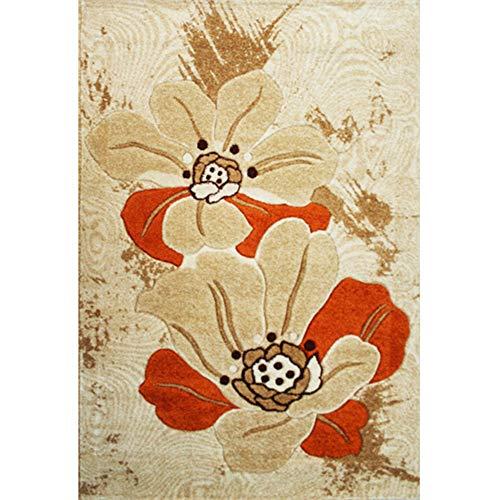 La alfombra YNN Alfombra de Yute Gruesa cifrada Sofá del Dormitorio de la Sala de Estar Alfombra de Cama (Tamaño : 80 *...