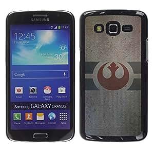 EJOY---Cubierta de la caja de protección la piel dura para el / Samsung Galaxy Grand 2 / --Army Of Alliance