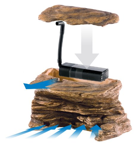 Image of Exo Terra Turtle Cliff Aquatic Terrarium Filter/Rock, Large