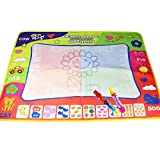 Coolplay Large Doodle Mat Water Painting Drawing Writing Board Toy + 2 Magic Pens for Baby Kids Gift, 31.5'X 23.6 Inches
