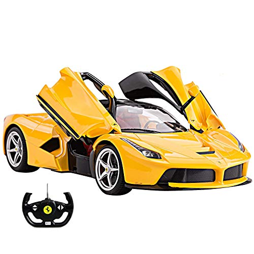 1/14 Scale Ferrari La Ferrari LaFerrari Radio Remote Control Model Car R/C RTR Open Doors (Yellow) by FMTStore ()
