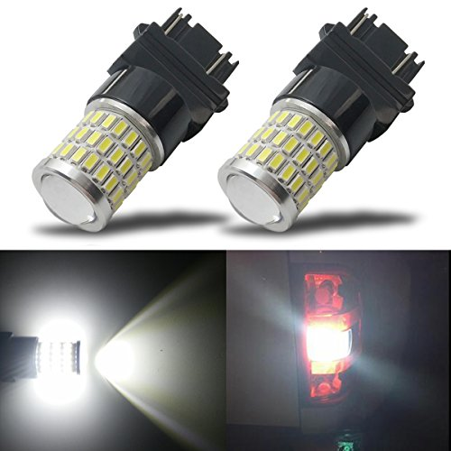 Nitro Buggy Tuning (iBrightstar Newest 9-30V Super Bright Low Power 3156 3157 3057 4157 LED Bulbs with Projector Replacement for Back Up Reverse Lights or Tail Brake Lights,Xenon White(6500K))
