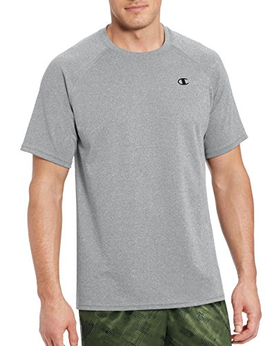 Champion Men's Vapor Select Tee with FreshIQ, Oxford Gray, XL