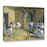 ArtWall Edgar Degas's The Dance Foyer at The Opera on The Rue Le Peletier Gallery-Wrapped Canvas, 36 x 48''