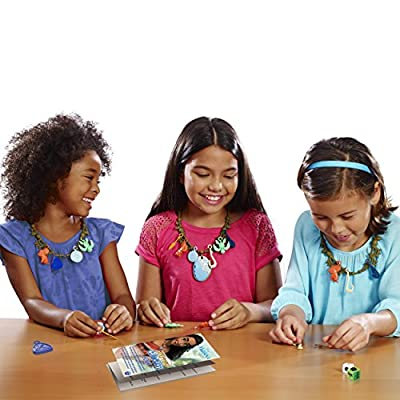 Moana Journey Collection Fun Kids Game - Make Your own Moana Outfit - Be the First to Get 4 Charms and the Heart of Nature to Win - Includes 24 Charms and 4 Necklaces - Disney Moana Party Games: Toys & Games